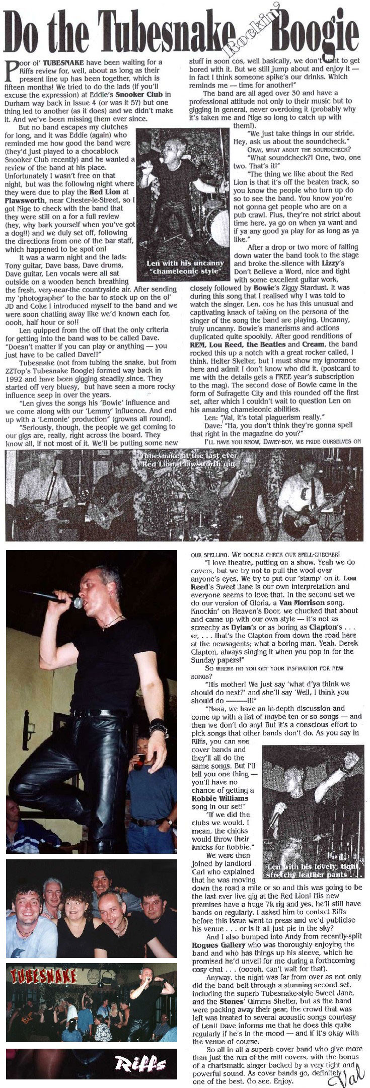 Fifth Line-Up at The Red Lion, Plawsworth 1999