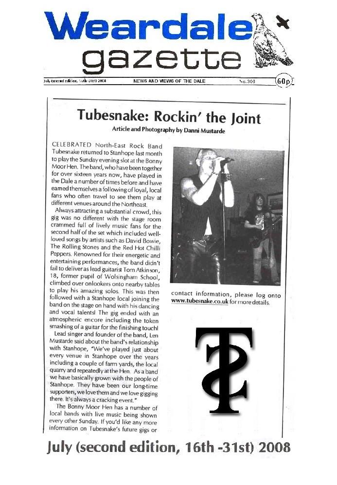 Weardale Gazette 16th-31st July 2008