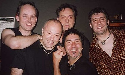 Seventh Line-Up at Durham Snooker Club, 2001: Len, Chris, Waka, Woody, Dave