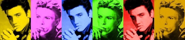 Both born 8th January, Elvis 1935, Bowie 1947 (montage created by lenny)