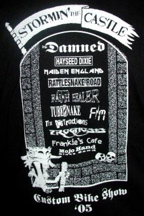 Tubesnake at Stormin' 2005 T-Shirt (back)