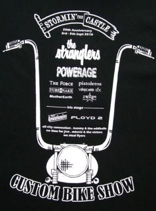 Tubesnake at Stormin' 2010 T-Shirt (back)