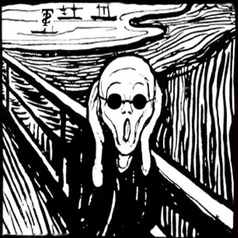 The Scream - Edvard Munch lithograpgh 1895 (image parody by lenny)